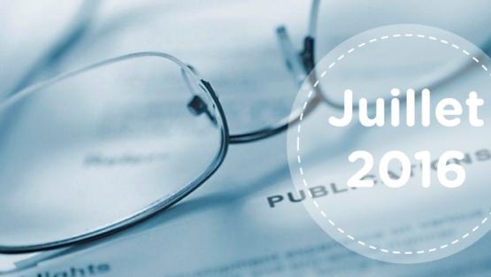 Retrouvez tous les résumés du mois de juillet