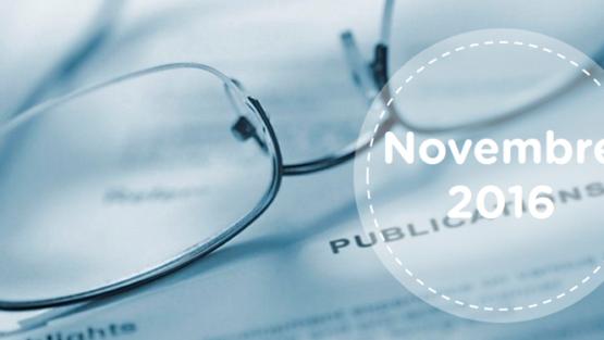 Retrouvez tous les résumés du mois de novembre