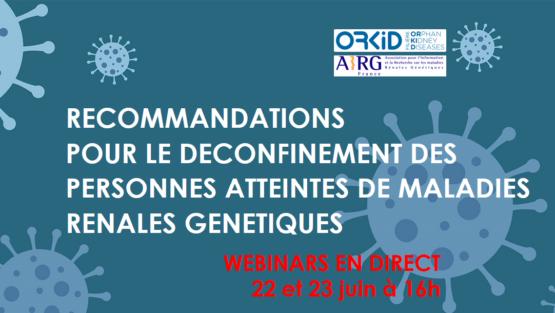 COVID-19, déconfinement et maladies rénales génétiques