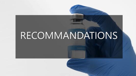 Recommandations vaccination anti-Covid